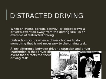Driver's Education Ch. 8 Power Point Managing Distractions