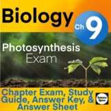 Ch 9 - Photosynthesis Exam - Miller & Levine 2019 - PDF & Word