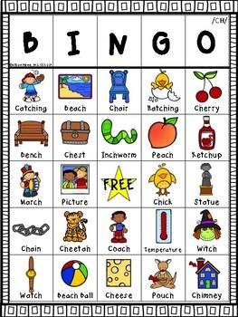 Ch Articulation Bingo