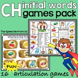 Ch Articulation games for speech therapy