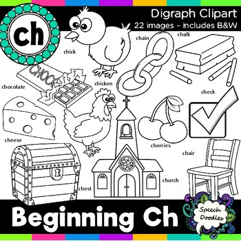 Ch Clipart - Beginning Digraph - ch, 22 images! For Personal and Commercial Use