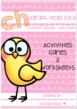 Ch Digraph Word Work Pack