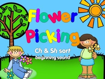 Ch & Sh Beginning Sound Spring Sort