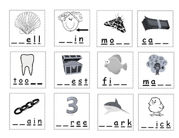 Ch, Sh, Th Picture/Word Sort