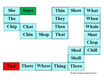 Ch, Sh, Th, Wh Board Game
