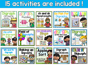 Ch Sh Th Wh Digraph Activity Mega Bundle