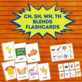 Ch, Sh, Wh, Th Blends Vocabulary Flashcards