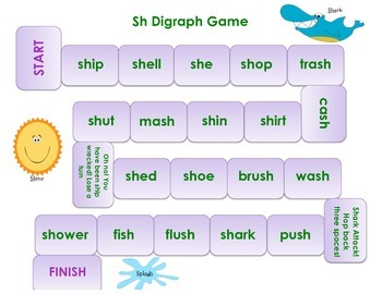 Ch & Sh Word Game