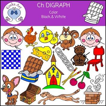 Ch Sounds (Digraph): Beginning Sounds Clip Art