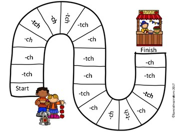 Ch/Tch Spelling Rule Phonics Literacy Center Orton-Gillingham Inspired