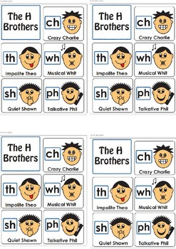 Ch Wh Sh Digraphs H brothers worksheet