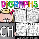 Ch Worksheet Packet - Digraphs Worksheets