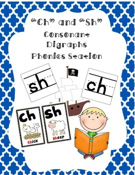 """""""Ch"""" and """"Sh"""" Consonant Digraphs Station"""