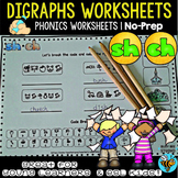 Ch and Sh Digraphs Worksheets