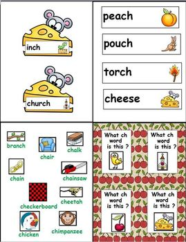 """Ch is for Cherry (Diagraph """"Ch"""" Word Work Unit)"""