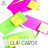 Ch or TCH Clothes Pin Blending Cards (Orton-Gillingham)