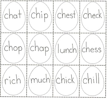 Ch phonics chicken