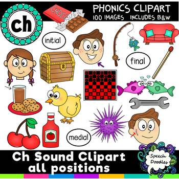 Ch sound clipart all positions - 100 images! For personal and Commercial Use