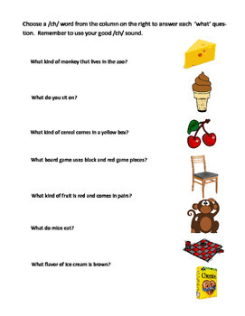 Ch 'what' questions