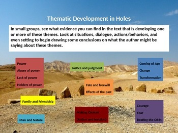 Ch.15-20 Lesson Presentation on Holes by Louis Sachar