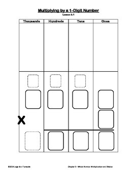 Ch3 Singapore Math 4th Grade Write and Wipe Templates, Multiplication & Division