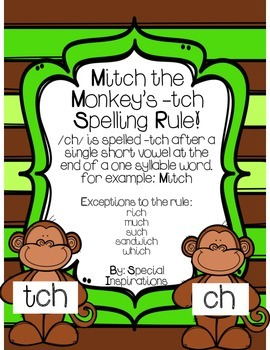 Ch/Tch Spelling Rule Phonics Literacy Center and Board Game