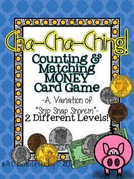 Money Game - Counting and Matching MONEY Card Game