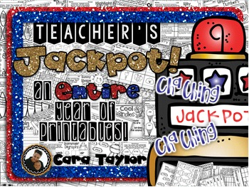 Cha-Ching! A Teacher's Jackpot! A Year of NO PREP Printables