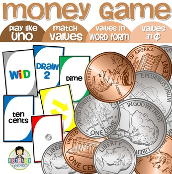 Counting Money Game UNO-Inspired *ROOKIE EDITION* Coins up