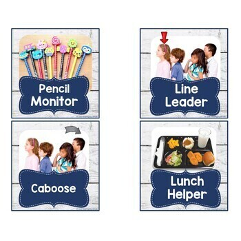 Shabby Chic Classroom Decor Job Cards
