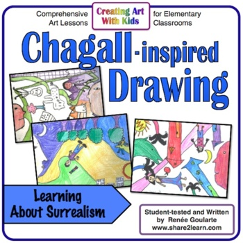 Art Lesson - Chagall Inspired Surrealistic Drawing