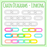 Chain Diagram - Linking Ideas Template Clip Art for Commercial Use