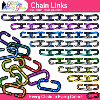 Chain Link Clip Art {Counting and Sorting Manipulatives for Math Centers}
