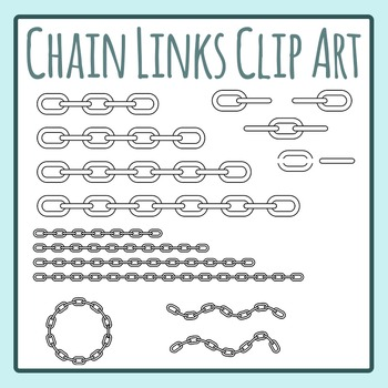 Chain Links Clip Art Set for Commercial Use
