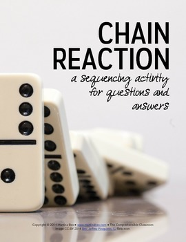 Communicative Activity: Chain Reaction Form (Group Q&A/Matching)