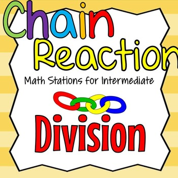 Division Math Stations for Intermediate Grades