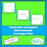 Chain Rule-Implicit Differentiation Scavenger Hunt