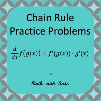 Chain Rule Practice Sheet