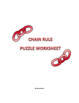Chain Rule Puzzle Worksheet