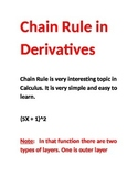 Chain Rule in Calculus Easy and Simple