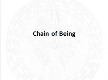 Chain of Being Powerpoint
