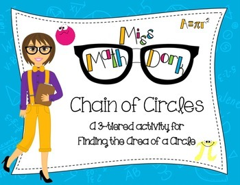 (Pi day)  Finding Area of a Circle: Chain of Circles - a 3
