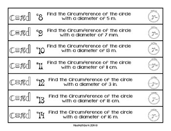(Pi day) 3-tiered activity Finding Circumference of a Circle:Chain of Circles.