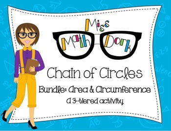 (Pi day) Area & Circumference of Circles: Chain of Circles Bundle: 3-tiers