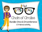 (Pi day) Area & Circumference: Chain of Circles Bundle: 3-