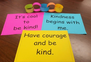 Chain of Kindness!-Links to build a chain and quotes about kindness