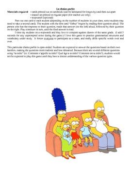 Chaîne parlée - La famille