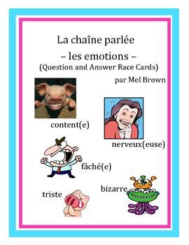 Chaîne parlée - Les émotions (adjectives)