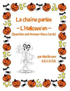 Chaîne parlée (Question & Answer Race Cards) - L'Hallowe'en