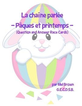 Chaîne parlée (Questions & Answer Race Cards) - Pâques et Printemps